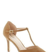 Get It, Got It, Go-See Heel in Tan