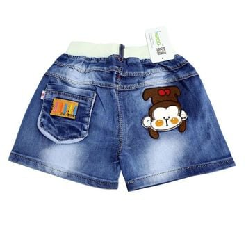 New fashion toddler boy jeans short pants cartoon KID shorts summer kids children denim jeans shorts trousers 2-6Y