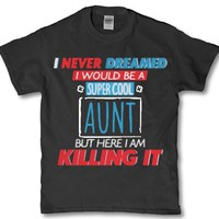 Awesome Aunt meme adult women's t-shirt