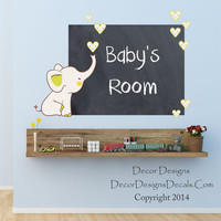 Baby Elephant Chalkboard Decal