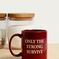 Only The Strong Survive Mug | Urban Outfitters