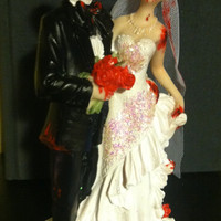 Zombie Cake Topper- Altered figurine (free shipping)