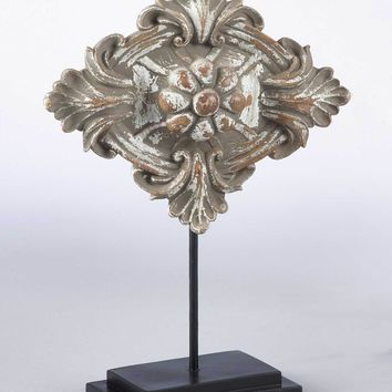 Florentine Wooden Diamond Medallion on Stand