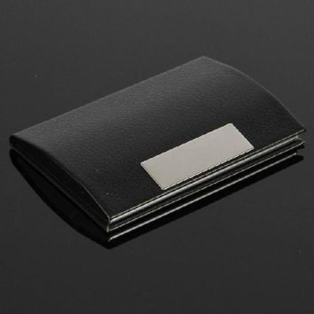 Xiniu Men leather Metal card holder Business Credit Card Name Id case for cards carteira masculina #YW