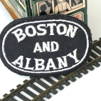 Boston and Albany Railroad  Vintage Patch Black White Embroidery Clothing Accessory Collectible
