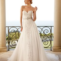 Casablanca Bridal 2053 Beaded Tulle Wedding Dress