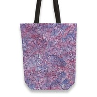 'Purple swirls doodles' Tote Bags by Savousepate on miPic