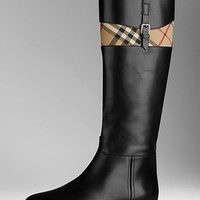 Horseferry Check Detail Riding Boots
