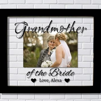 Grandmother of the Bride Floating Picture Frame - Grandfather - Frame - Wedding Grandma Personalized