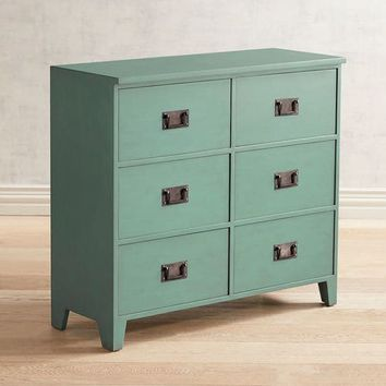 Bradford Teal 6-Drawer Chest