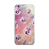 Flower Crown Panda Emoji In Outer Space Collage Teen Cute Girly Girls Beautiful Pink iPhone 4 4s 5 5s 5C 6 6s 6 Plus 6s Plus 7 & 7 Plus Case