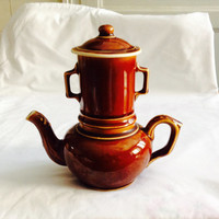 French Vintage Teapot 1950s Filter Tea Pot