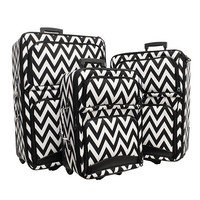 Luggage 3pc Chevron Blk