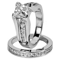 Size 5-11 Wedding Ring Set Engagement = 1932693636