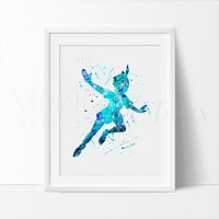 Peter Pan 3 Watercolor Art Print
