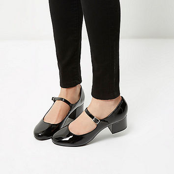 Black patent heel Mary Jane shoes - pumps - shoes / boots - women