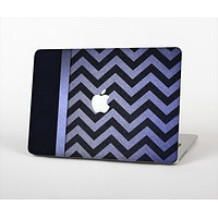"The Purple Textured Chevron Pattern Skin Set for the Apple MacBook Pro 13"" with Retina Display"