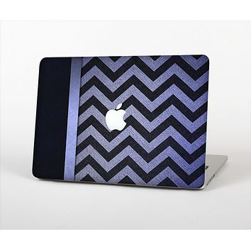 The Purple Textured Chevron Pattern Skin Set for the Apple MacBook Pro 15""