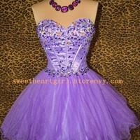 Gorgeous Amethyst Mini Prom Dress/Homecoming Dress