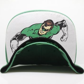 New Arrival Green Lantern Cosplay Cap Marvel Comics Hero ladies dress Hat charm Costume Props Baseball cap canvas snapback caps