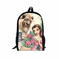 FORUDESIGNS 3D Cartoon Princess Snow White School Bags for Girls Children Schoolbag Beauty and the beast Kids Bookbags Mochila