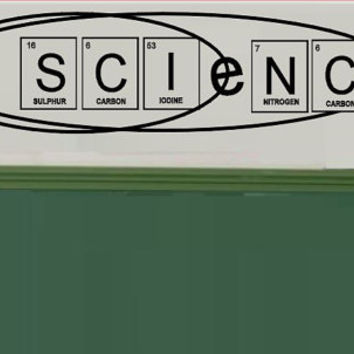 Science Vinyl Wall  Decals - Classroom Decal - Wall Decal - Chemistry Class Sticker - Teacher Decorations - School Sticker Decals - Electron