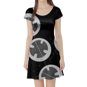BB-9E Star Wars Inspired Short Sleeve Skater Dress