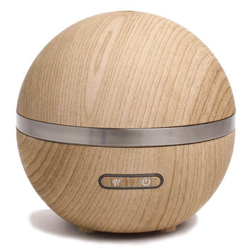 Round Wood Grain Ultrasonic Aroma Diffuser