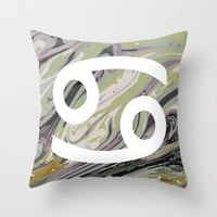 CANCER Throw Pillow by KJ Designs