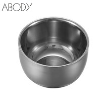 7.5cm Stainless Steel Shaving Bowl Barber Beard Razor Cup For Shave Brush Male Face Cleaning Soap Mug Tool Set Silver NEW