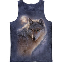 The Mountain Men's  Adventure Wolf Class Tank Mens Tank Blue