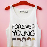 1D Forever Young Crop Tank Top