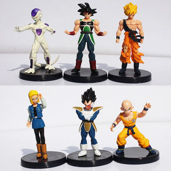 6Pcs/set Dragon Ball Z  Figures DragonBall Son goku Gogeta Gotenks PVC Action Figure Collectable Model Toy Free Shipping