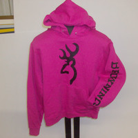 Browning Hot Pink Hoodie  Black logo/arm logo   S-XL