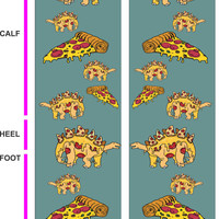 Pizzasaurus Socks - Dinosaurs - Pizza
