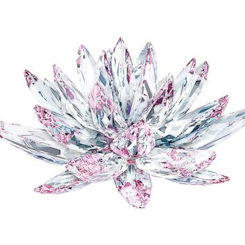 Swarovski Crystal Flower Figurine LOTUS, Light Rose - 5100663
