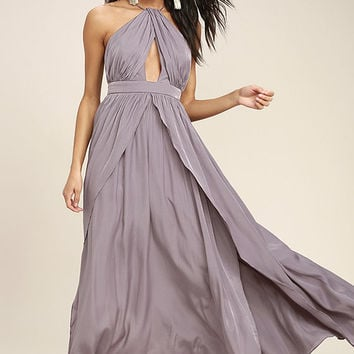 On My Own Dusty Purple Maxi Dress