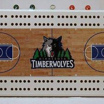 Minnesota Timberwolves NBA Licensed Cribbage Board