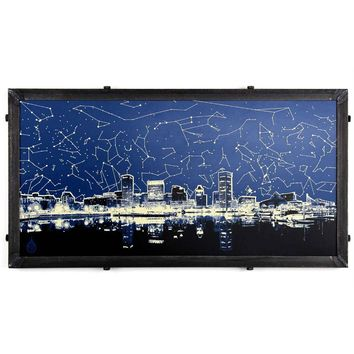 Baltimore Star Map Skyline / Art Print