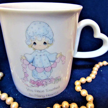 Precious Moments Coffee Cup Mug Porcelain Enesco You Have Touched So Many Hearts