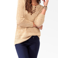 Relaxed Metallic-Blend Sweater