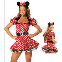 High Quality Silk Cute Mickey Mouse Cartoon Costumes [TQL120321095] - £21.59 :