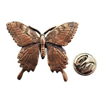 Tiger Swallowtail Butterfly Pin ~ Antiqued Copper ~ Lapel Pin