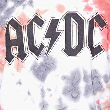 Tie Dye ACDC Graphic Pullover