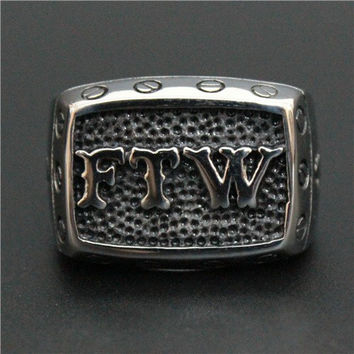 Fuc* The World Or Forever Two Wheels Ring