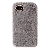 Gray Faux Fur iPhone Case