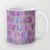 Messy Watercolor Stripes in Pink and Purple Mug by Micklyn | Society6