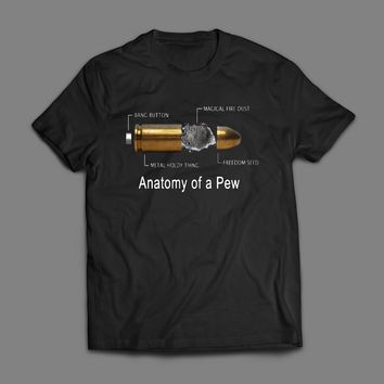 Anatomy of a PEW Funny 2nd Amendment T-Shirt
