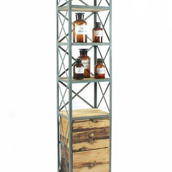 Steel And Wood Shelving Unit