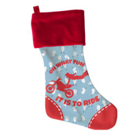 Dirt Bike Christmas Stocking